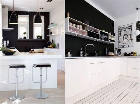 decoration cuisine noir et blanc ophrey com cuisine blanche mur noir prélèvement d