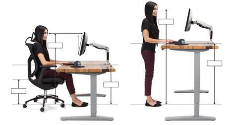 standing desk height calculator best height for computer desk