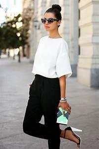 Look Chic Femme : 1001 id es pour une tenue vestimentaire au travail fashion style her white top ~ Melissatoandfro.com Idées de Décoration
