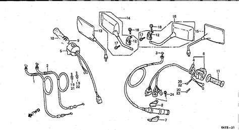 bolton motorcycles vt250f 1983 handle lever switch