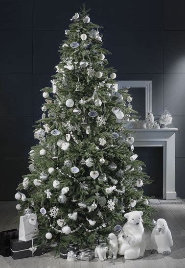 decoration sapin de noel blanc maison du monde