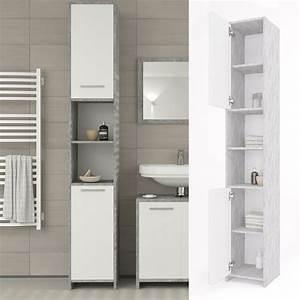 Badregal Mit Wäschekorb : badschrank kiko grau beton badezimmerschrank real ~ Whattoseeinmadrid.com Haus und Dekorationen