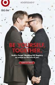 target wedding registry new ad for target wedding registry celebrates same marriage with image of just married
