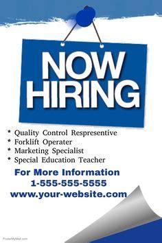 job hiring poster design template click  customize