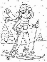 Skiing Coloring Ski Printable Ausmalbilder Ausdrucken Malvorlagen Kostenlos Zum sketch template