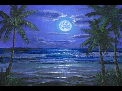 peindre la lune sur la plage tropicale video expliquee