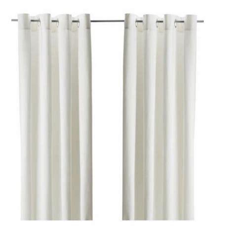 ikea sanela curtains drapes 2 panels white white