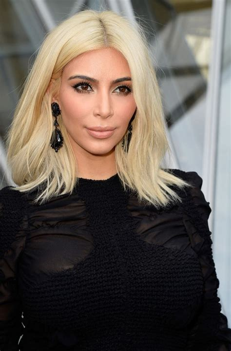 Is Kim Kardashians New Blonde Hair A Wig Claims The Star