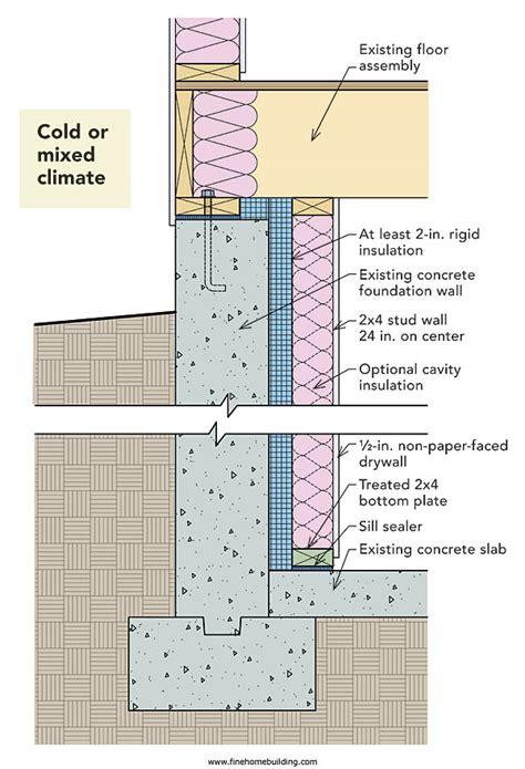 How To Insulate A Basement Wall Greenbuildingadvisorcom