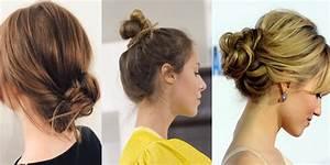 Chignon Cheveux Mi Long : chignon sur cheveux mi longs nos mod les d 39 inspiration ~ Melissatoandfro.com Idées de Décoration