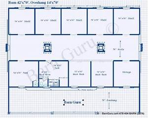 5 or 6 stall horse barn plan room for the 2 horse 2 With 6 stall horse barn plans