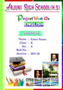 english front page  school projectpsd english cover