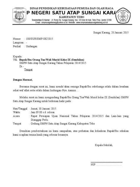Contoh Surat Undangan Resmi by 37 Contoh Surat Undangan Osis Perusahaan Sekolah Rt