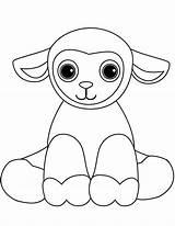 Coloring Sheep Lamb Cartoon Printable Sheet Onlinecoloringpages sketch template