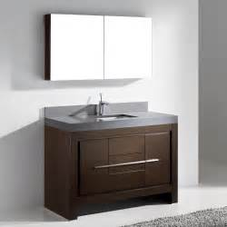 kitchen sink faucets ratings madeli vicenza walnut 48 quot modern single sink bathroom