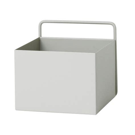 ferm living wall box square light grey design shop