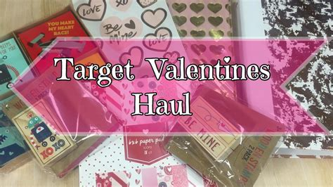 Target Valentine's Dollar Spot Haul  January 2017  Youtube