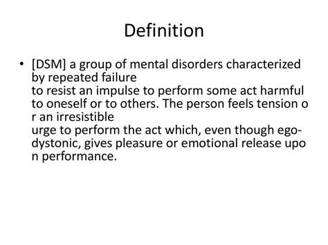 impulse control disorders prezentatsiya onlayn
