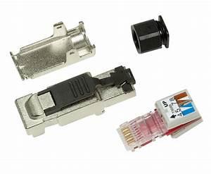 Cat 6 Stecker : 2x netzwerk stecker rj45 cat6a cat 7 feldkonfektionierbar ohne werkzeug logilink ebay ~ Frokenaadalensverden.com Haus und Dekorationen