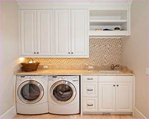 Laundry, Room, Countertop, Over, Washer, Dryer