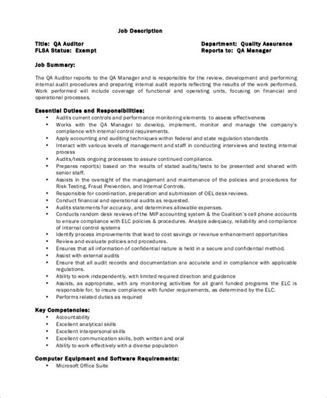 Auditor Resume Description by Description Sle Administrative Assistant Sle Description Administrative