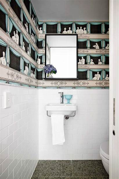 Bathroom Bathrooms Bold Chic Inspire Walls Newspaper