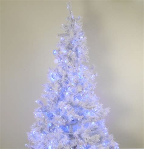 pre lit white christmas tree with blue lights ebth