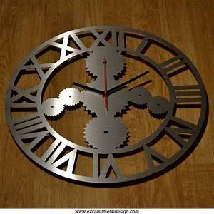 Deco Murale Industrielle : horloge murale style industrielle inox bross d corations murales par exclusif metal design ~ Teatrodelosmanantiales.com Idées de Décoration