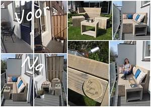 Lounge Set Balkon : meubels van steigerhout maatwerk door op eigen houtje meubels ~ Whattoseeinmadrid.com Haus und Dekorationen