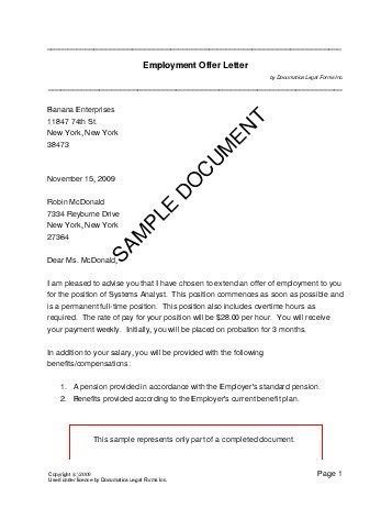 employment offer letter south africa legal templates