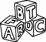 Cube Coloring Abc sketch template