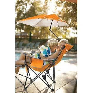 sport brella recliner chair orange fitness sports