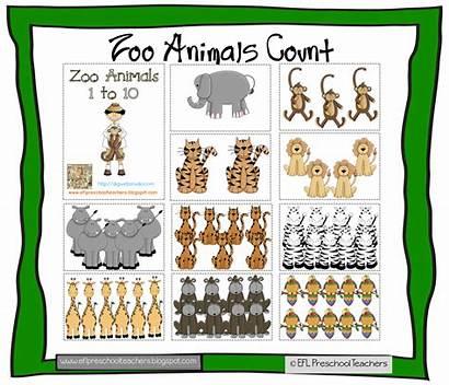 Esl Counting Preschool Teachers Zoo Efl Monkeys
