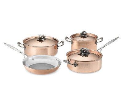 ruffoni opus cupra  piece cookware set williamssonoma cookware set cookware set
