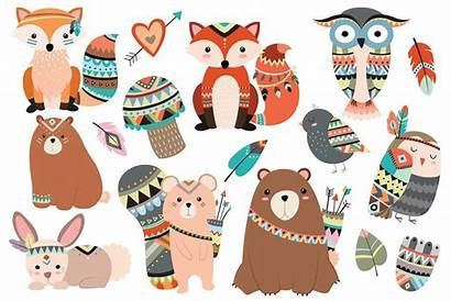 Woodland Tribal Animals Animal Clipart Forest Pc