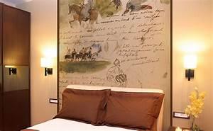 Idee Deco Tete De Lit : des papiers peints panoramiques pour la chambre coucher papiers de paris ~ Melissatoandfro.com Idées de Décoration
