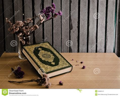 holy quran stock image image  colorful al coran