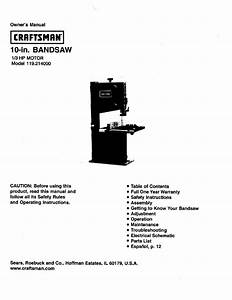 Craftsman 119 214000 User Manual