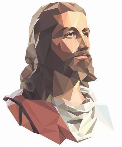 Jesus Poly Low Illustration Polygon Kedokteran Background