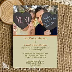 affordable funny simple photo wedding invitations iwi318 With funny wedding invitations ireland