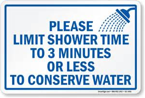 Conserve Water Shower Sign