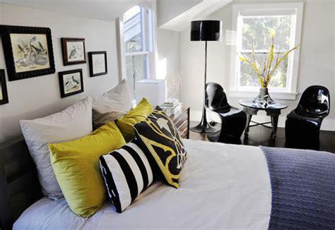 id馥 d馗o chambre noir et blanc d 233 co chambre noir et jaune