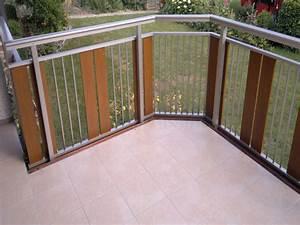 Balkonverkleidung Aus Holz : alu edelstahl look ~ Lizthompson.info Haus und Dekorationen