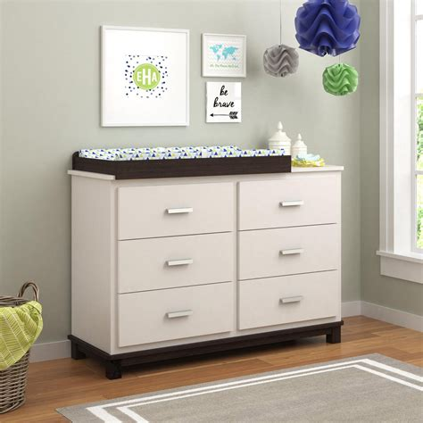 Dresser Change Table by Cosco Leni 6 Drawer Dresser With Changing Table White