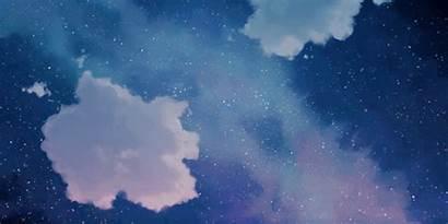 Sky Anime Starry Night Aesthetic Wattpad Animated