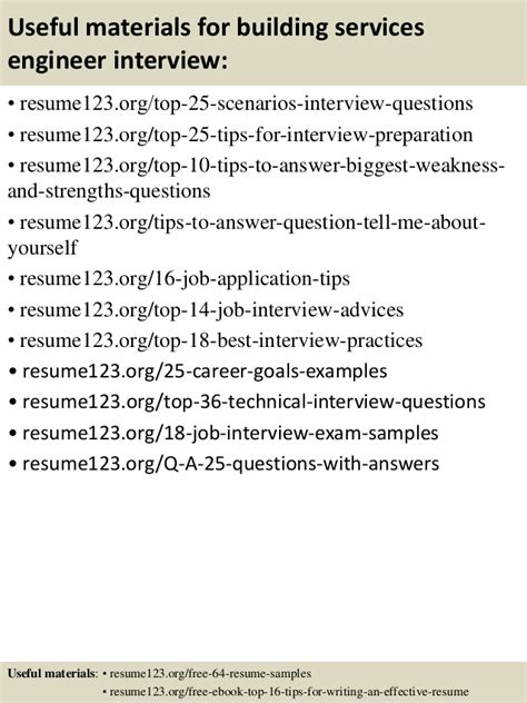 Top Resume Building by Top 8 Building Services Engineer Resume Sles