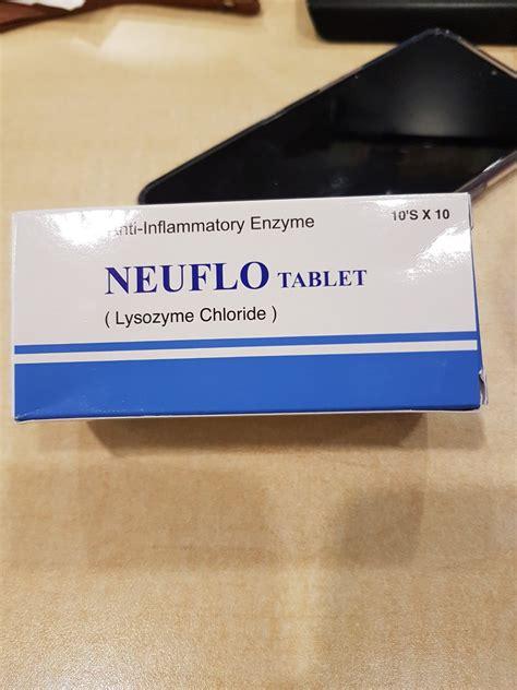 neuflo tablet lysozyme chloride anti inflammatory enzyme