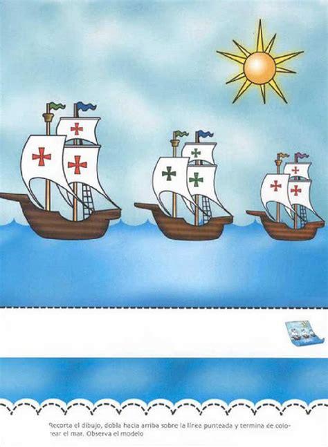 Las Tres Carabelas De Cristobal Colon Para Colorear by Tres Carabelas Actividades Para Escuela