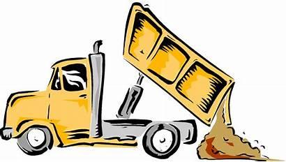 Dump Truck Clip Clipart Cartoon Dumping Garbage