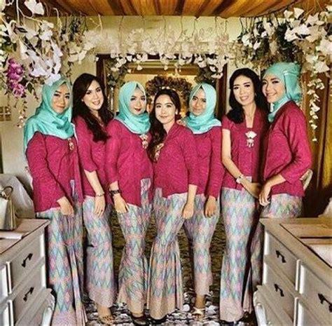model baju kebaya seragam keluarga  pernikahan